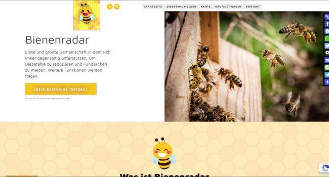 Ein neues Projekt Bienenradar